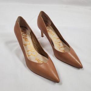 Sam Edelman Orella Camel Nude Leather Pump Heels